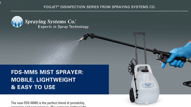 B765 FDS-MM5 Mist Sprayer