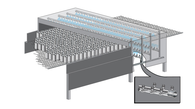 drawing of a can washing and drying application