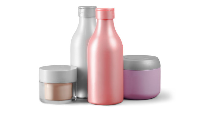 group of personal care product containers