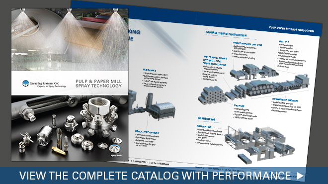 view the complete pulp and paper mill spray technology catalog